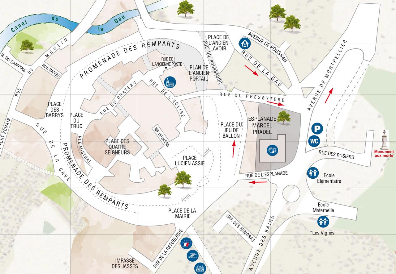 Plan du centre ville